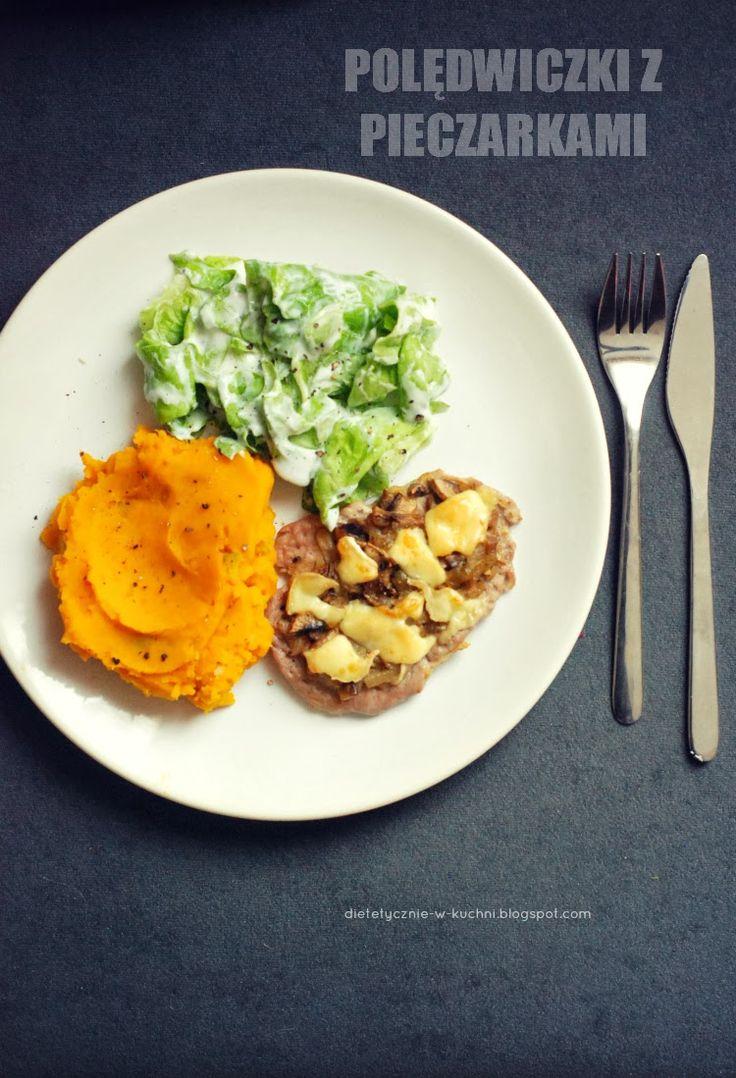 Moje Dietetyczne Fanaberie: Polędwiczki z pieczarkami i szybki obiad
