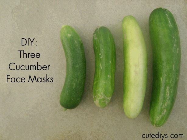 Three Cucumber Face Masks.. I'm currently drowning in cucumbers from my garden so I'm exploring non-food ways to use them!