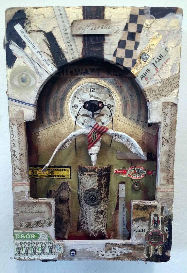 Assemblage: Patron Saint of Ephemera by bugatha1