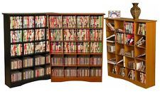 400 CD 200 DVD Bookcase Storage Cubbies CD/DVD Rack New