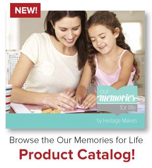 """All the products from Our Memories For Life.  To order, click """"products"""" at www.heritagemakers.com/jenniferwise  Traditional scrapbooking supplies in the vein of Creative Memories, by Rhonda Anderson"""