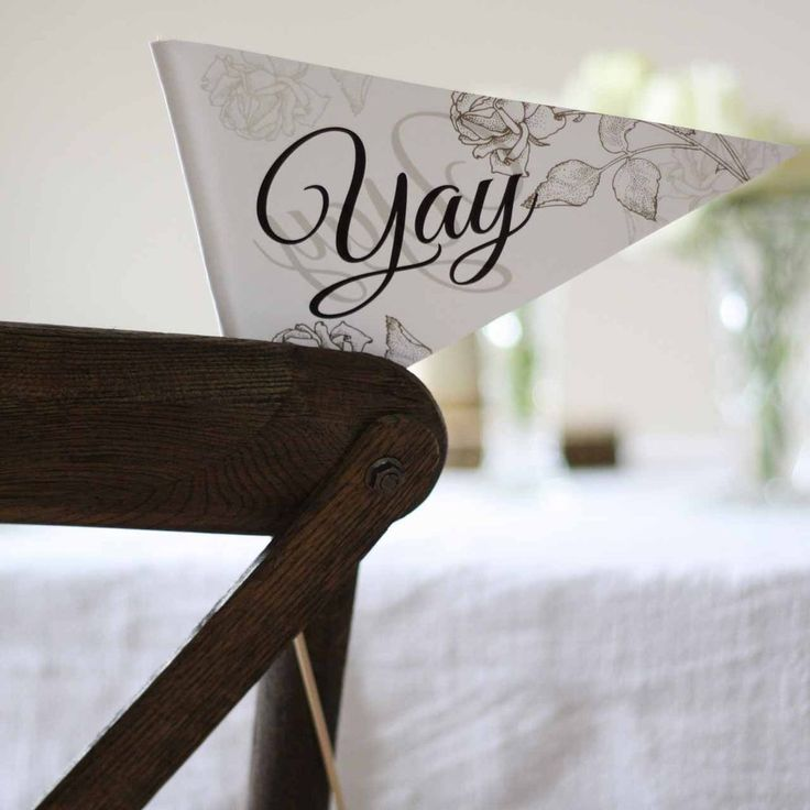 Celebratory Paper Flags – Wave These Flags Instead Of Wedding Confetti