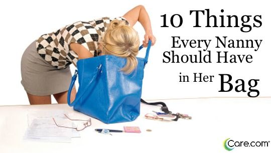 10 things for your Nanny Bag