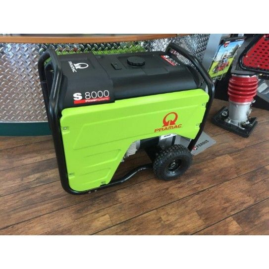 Pramac Honda Powered 7.2kVA AVR Petrol Generator with auto start capability. The S8000 matches easy-use features and first-class components with the legendary Honda reliability to satisfy your home back-up power needs. This model is one of our most popular units for home solar power back up.