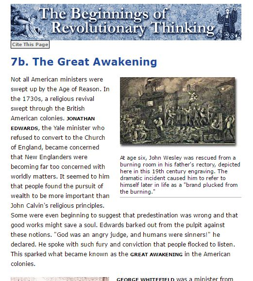 The First Great Awakening Article or Video 2. Visit site for complete article.