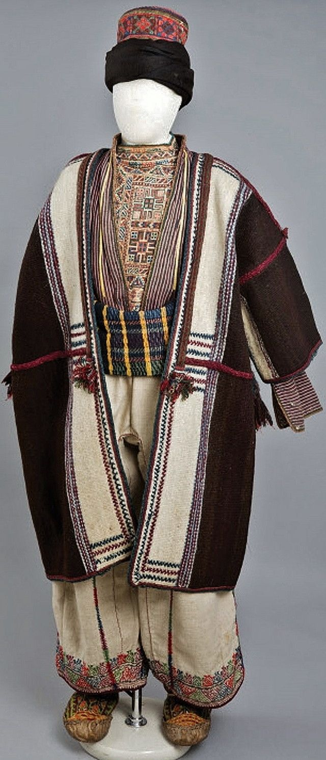 Armenian costume of a young man. Late-Ottoman era, end of 19th century, from the region of Van. Collected in 1916. (The Russian Museum of Ethnography, St.Petersburg).