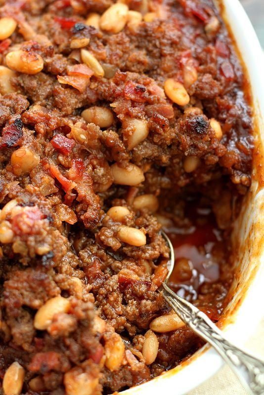 Mom's Baked Bean Casserole | girlversusdough.com @stephmwise