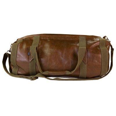 Dark Horse Leather Duffel Bag.