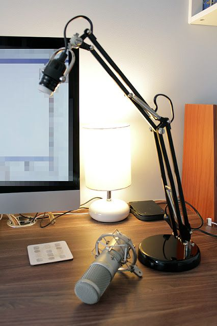 Materials: Black Forså work lampDescription: I needed an adjustable stand for my microphone, but didn't want to fork out the incredible amount of money for an
