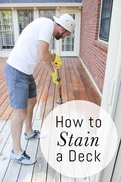 How to Stain a Deck: - Check more details on www.prettyhome.org