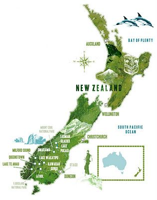 Lee Woodgate : New Zealand map