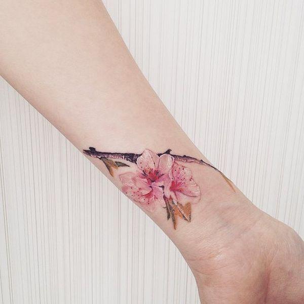 Resultat De Recherche D Images Pour Cherry Blossom Wrist Tattoo Tatuajes De Cerezas Tatuajes De Flores Flores De Cerezo Japonesas