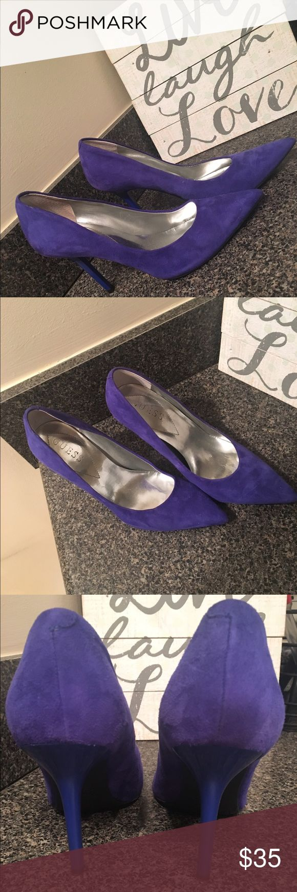 Guess Blue Suede Pumps Size 7.5 Guess Blue Suede Pumps! Size 7.5. Worn 3 times. Great condition! Pointed toe. Guess Shoes Heels