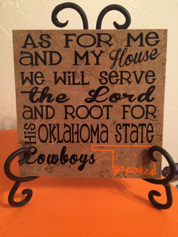 Oklahoma State University Tile by PoshNPunchy on Etsy