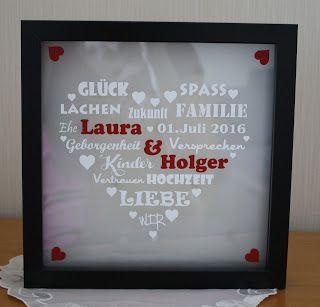Steffi´s Stempelkeller : Beleuchteter Rahmen zur Hochzeit