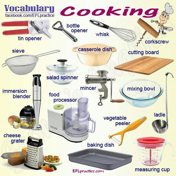 Kitchen Equipment Dictionary ~ Best visual vocab food drink and kitchen stuff images