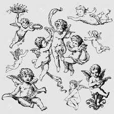 """Résultat de recherche d'images pour """"cherub tattoo flash"""""""