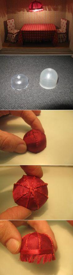 Изготовление абажура для миниатюрной кукольной композиции