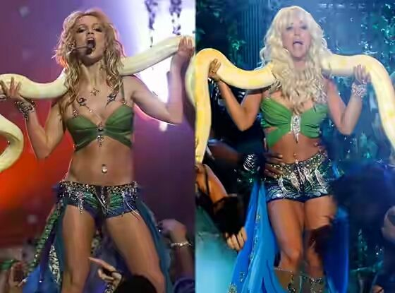 Welcome to Yahya Mubarak's blog: Kaley Cuoco Slithers With a Serpent as Britney Spe...