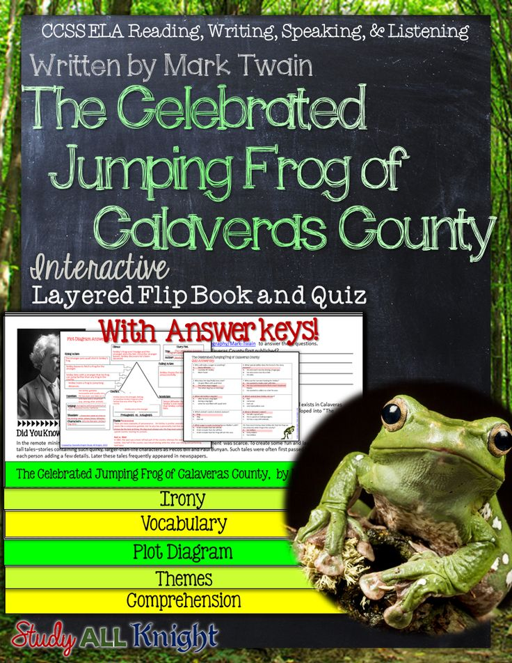 "the celebrated jumping frogs of calaveras county english literature essay Michael stout english 3a january 30, 2015 literary analysis ""the celebrated jumping frog of calaveras county"" ""the celebrated jumping frog of calaveras county"" is a short story in which."