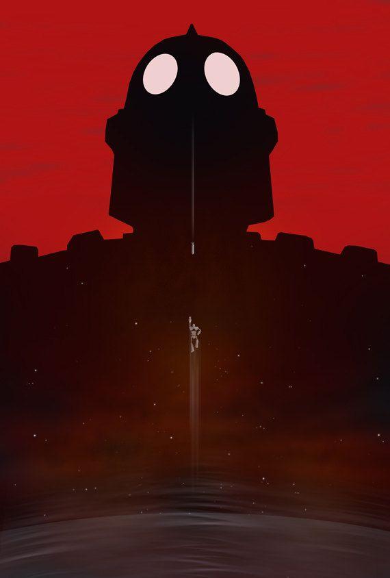 The Iron Giant Minimalist Movie Poster iron giant by bigbadrobot