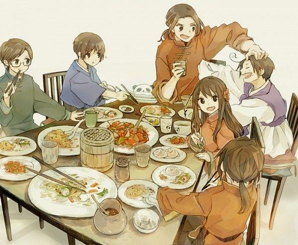 Hetalia Asian family :3