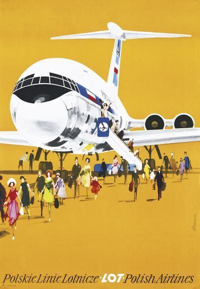 Polish airline poster
