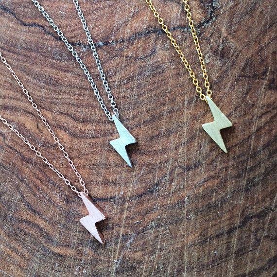 Tiny Lightning necklace Thunder strike by lizaslittlethings