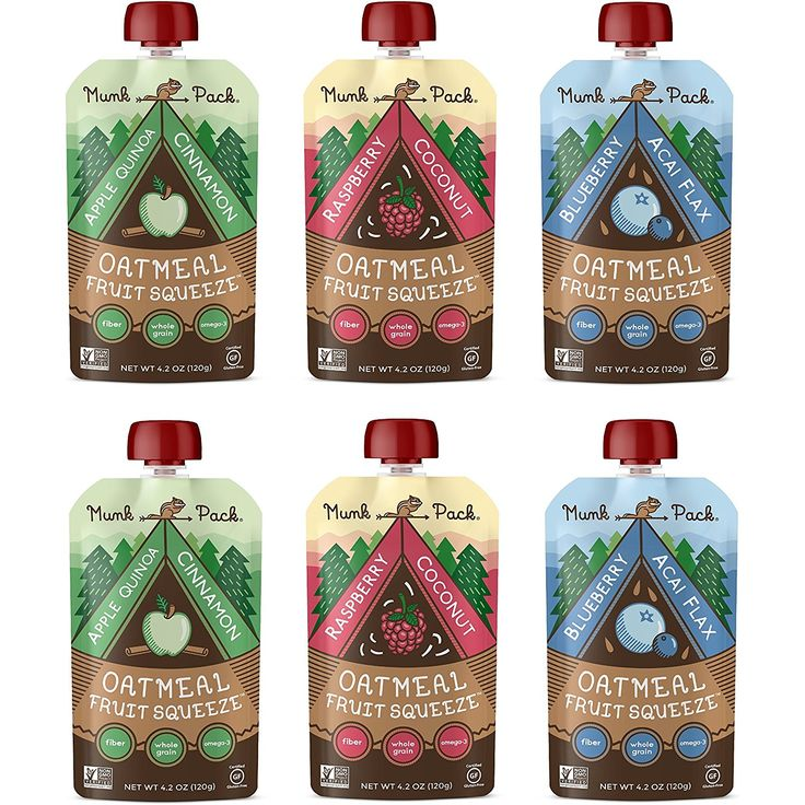 Munk Pack Oatmeal Fruit Squeeze Variety Pack, Readyto