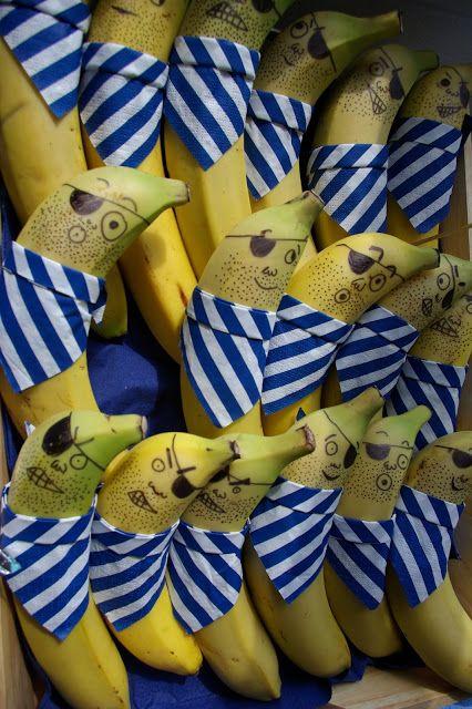 Idées Anniversaire Pirate, bananes pirates... quelques unes gentilles et d'autres méchantes !