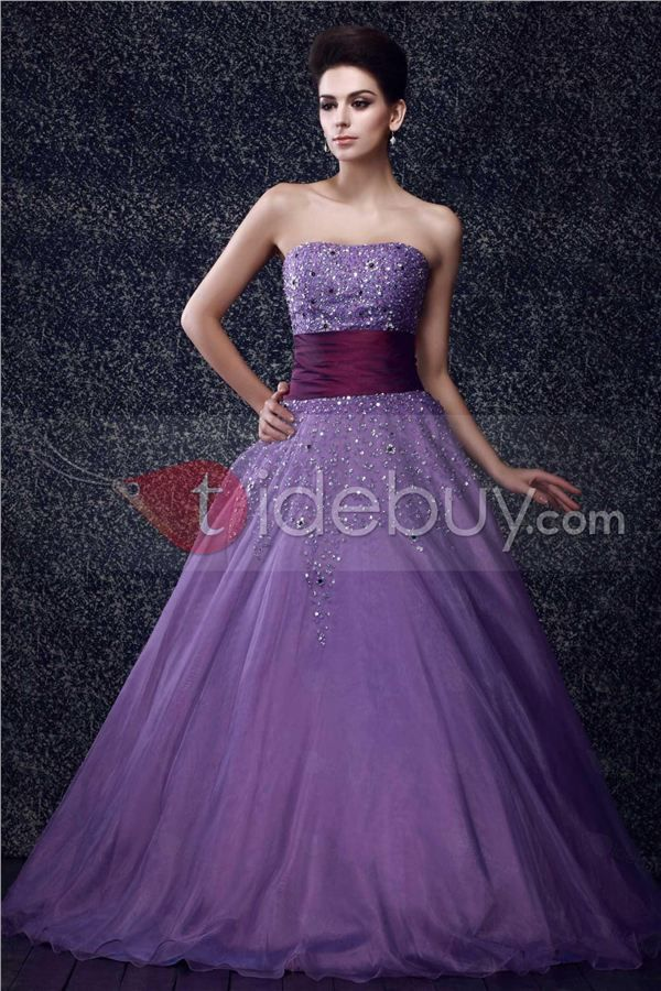 Gorgeous Strapless Floor-Length Taline's Prom/Ball Gown Dress : Tidebuy.com