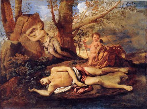 Nicolas POUSSIN - Echo et Narcisse vers 1628-1630 - Louvre
