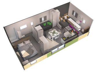 Exemple de Plan de vente 3D d'habitat de loisir