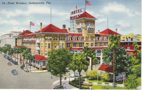 The Hotel Windsor was one of the earliest hotels in Jacksonville, Florida.