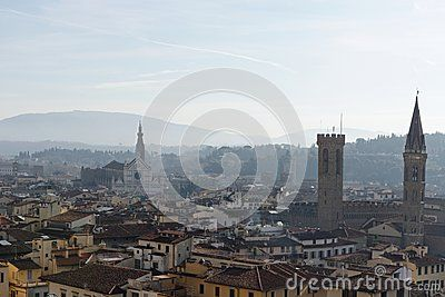 Firenze very beautiful medieval town in tuscany