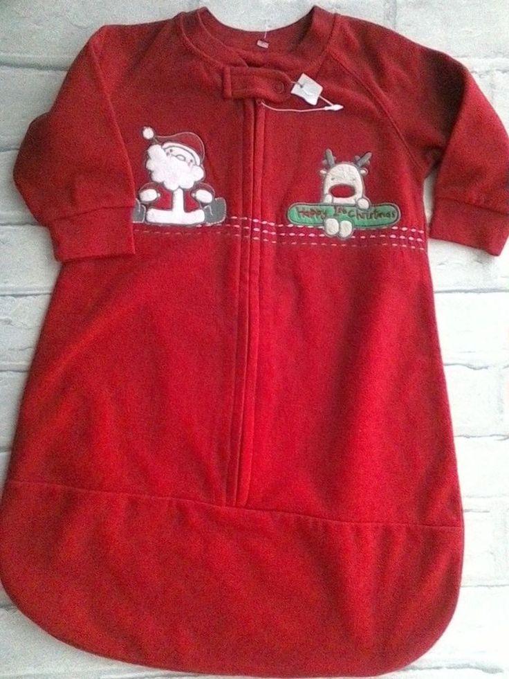 Baby Boy Girl All In One Pram Nest Sleep Suit IstChristmas Red Fleece 3-6 months #matalan