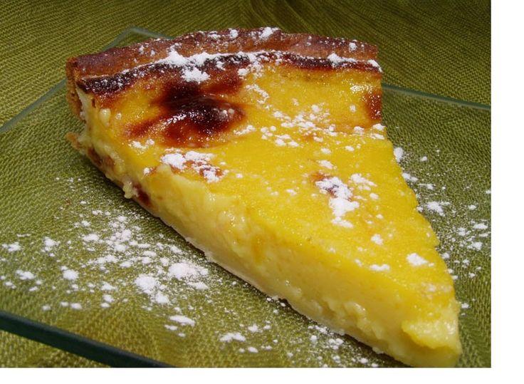 Tarte de pastel de Nata - http://www.sobremesasdeportugal.pt/tarte-de-pastel-de-nata-3/
