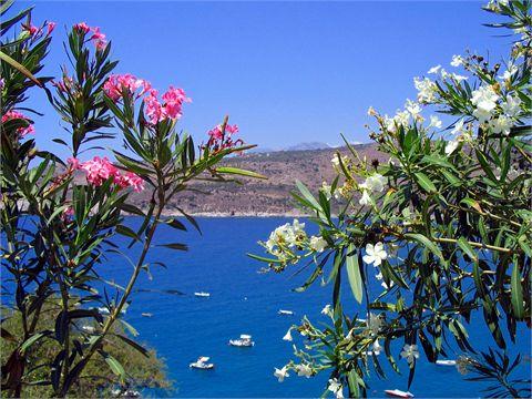 Pyrgos, un paesino dove è possibile spaziare con lo sguardo da un capo all'altro dell'isola