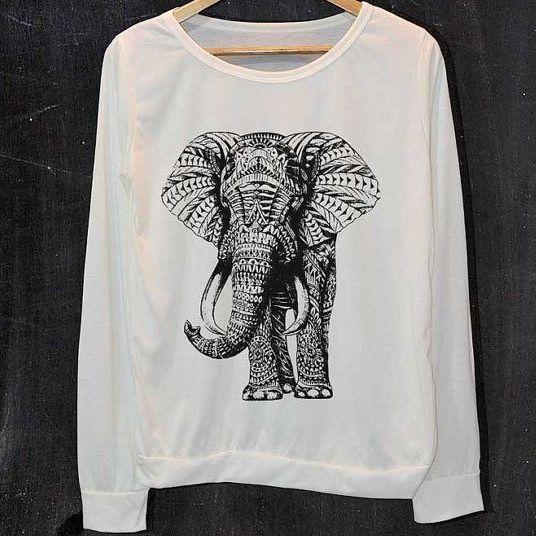 Moletom Ornate Elephant