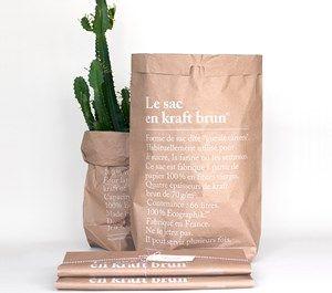 Le Sac Papir pose Brown 66 liter