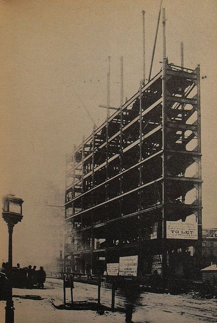 Times Square 1903. Times Tower Framework. Vintage New York City