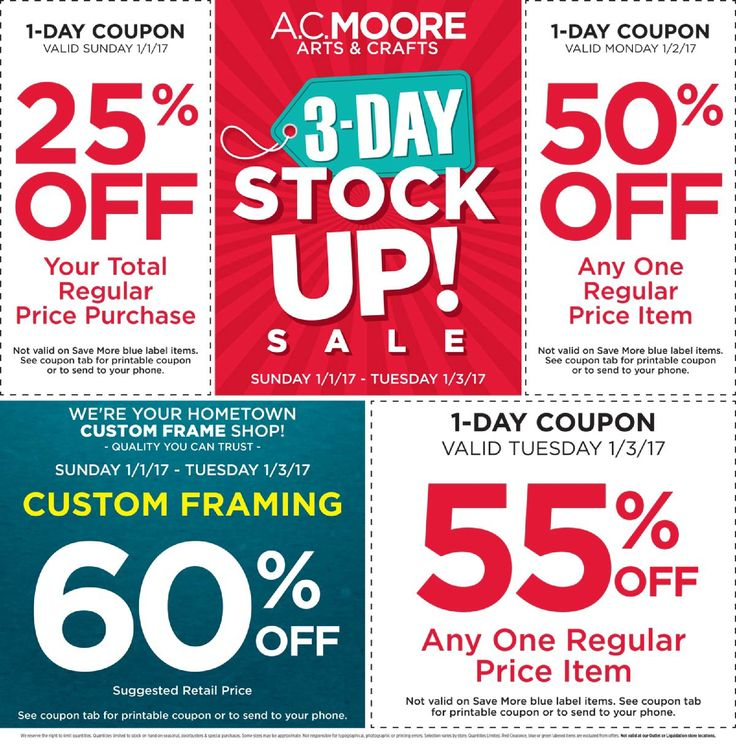 AC Moore Weekly Ad January 1 - 3, 2017 - http://www.olcatalog.com/home-garden/ac-moore-weekly-ad.html