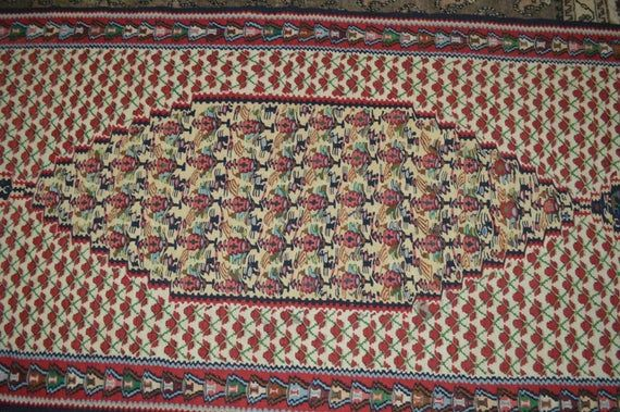 9.5 X 3 FT Vintage Geometirc with Floral Pattern Amazing Multi Colors Turkish Runner,Fine Woven Turk