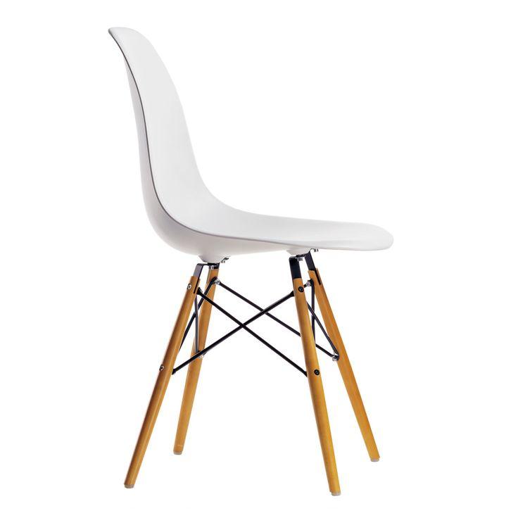 Vitra   Eames Plastic Side Chair DSW (H 43 Cm), Ahorn Gelblich / Mauve Grau,  Filzgleiter Weiß (Hartboden)