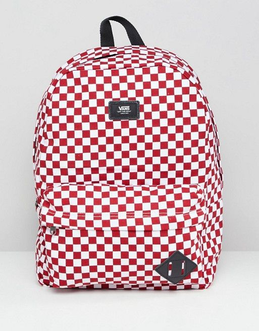 5111427227 Vans Red Checkerboard Backpack in 2019