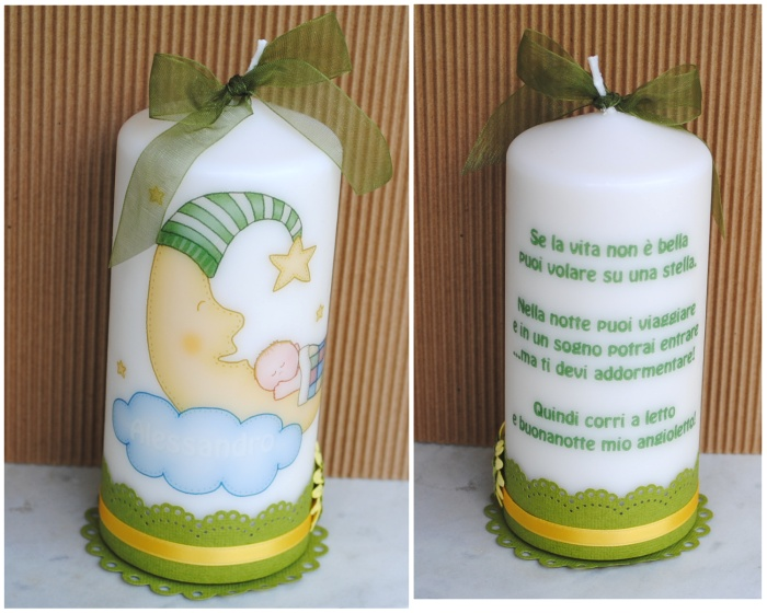 idea for baby candle