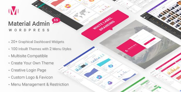CodeCanyon  Material v3.5  White Label WordPress Admin Theme Free Download http://ift.tt/2DpWE5c