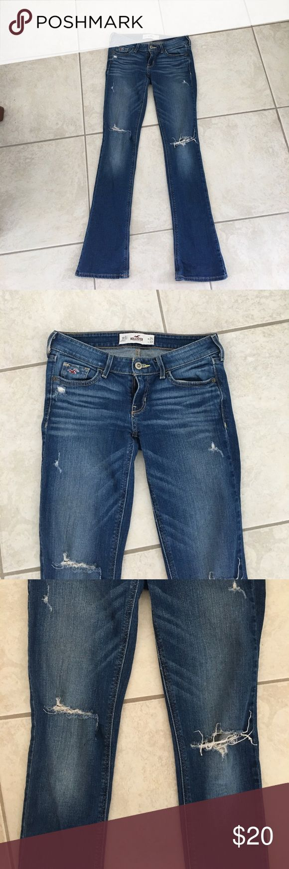 Hollister boot cut jeans Hollister boot cut jeans, size 1S but fits like a 1L Hollister Jeans Boot Cut