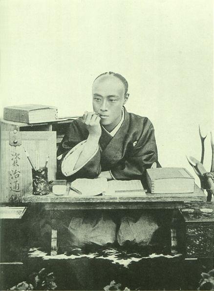 Japanese antique photograph.   Tokugawa Yoshinobu (Japanese last shogun). 1837-1913. edo-era, Meiji-era, Taisho-era.