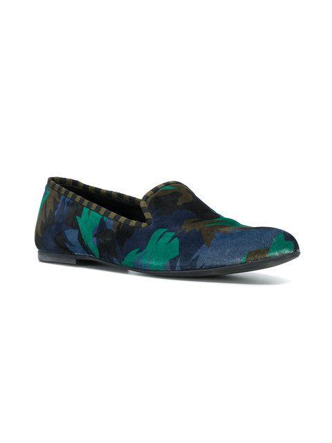 Tomas Maier camo palm smoking slipper